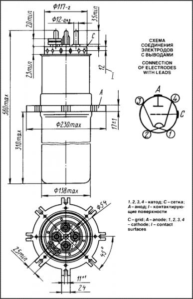 Схема генераторной лампы